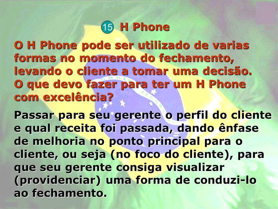H Phone O H Phone pode ser utilizado de varias formas no momento do fechamento, levando o cliente a tomar uma decisão. O que devo fazer para ter um H