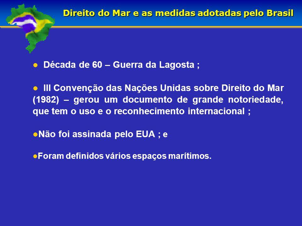 PLATAFORMA CONTINENTAL 188 MN ZONA ECONÔMICA EXCLUSIVA 12 MN 24 MN MAR TERRITORIAL ZONA CONTÍGUA BORDOEXTERIORMARGEMCONTINENTAL LINHA DE BASE PRAIA ESPAÇO AÉREO NACIONAL ESPAÇO AÉREO INTERNACIONAL PLATAFORMA CONTINENTAL MÁXIMA ALTO-MAR 350 MN ÁREA