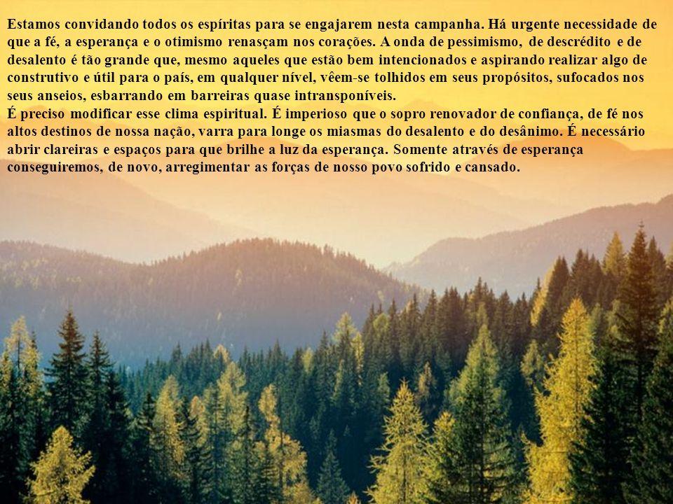 Irmãos queridos: Diante dessa crise que se abate sobre o nosso povo, face a essa onda de pessimismo que toma conta dos brasileiros, frente aos embates