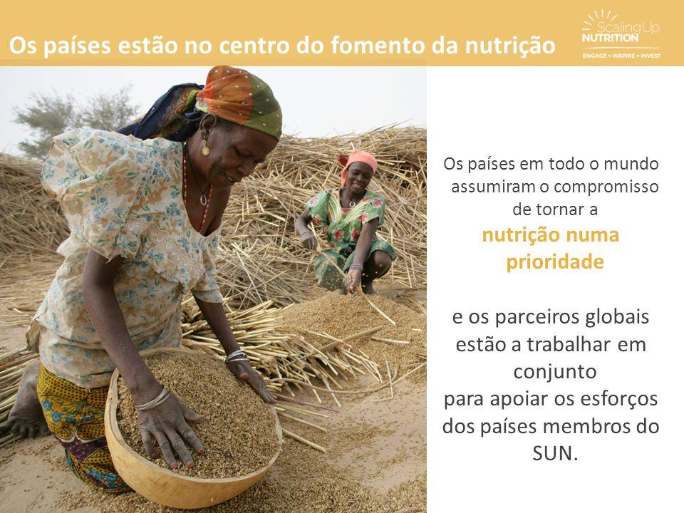 Os países em todo o mundo assumiram o compromisso de tornar a nutrição numa prioridade e os parceiros globais estão a trabalhar em conjunto para apoia