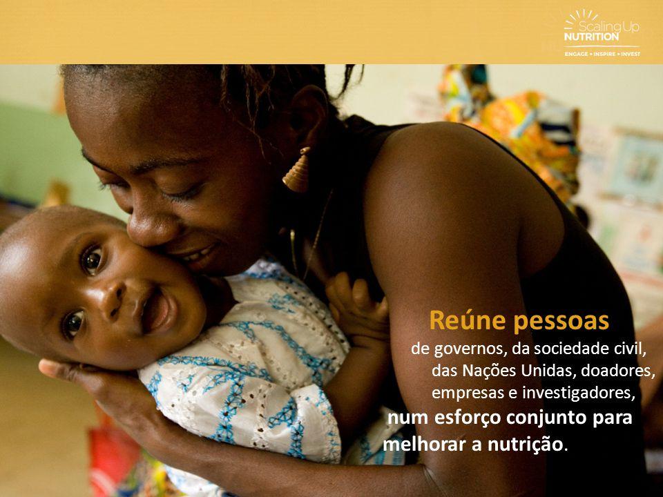 Reúne pessoas de governos, da sociedade civil, das Nações Unidas, doadores, empresas e investigadores, num esforço conjunto para melhorar a nutrição.
