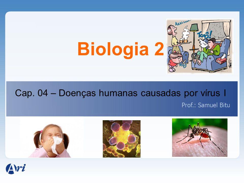 Biologia 2 Cap. 04 – Doenças humanas causadas por vírus I Prof.: Samuel Bitu
