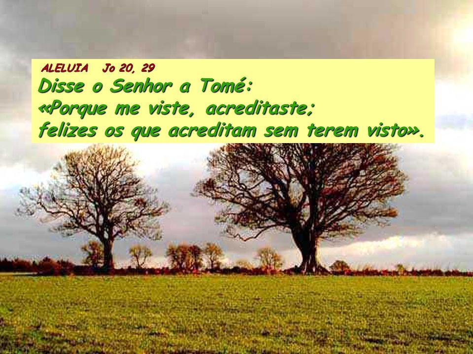 1Pe 1, 3-9 Bendito seja Deus, Pai de Nosso senhor Jesus Cristo, que, na sua grande misericórdia, nos fez renascer, pela ressurreição de Jesus Cristo d