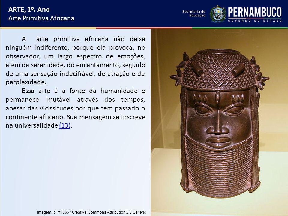 ARTE, 1º. Ano Arte Primitiva Africana A arte primitiva africana não deixa ninguém indiferente, porque ela provoca, no observador, um largo espectro de