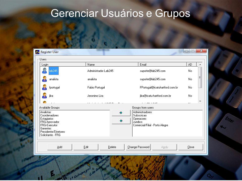 Gerenciar Usuários e Grupos