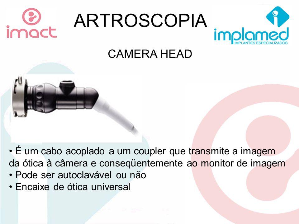 ARTROSCOPIA CAMERA HEAD É um cabo acoplado a um coupler que transmite a imagem da ótica à câmera e conseqüentemente ao monitor de imagem Pode ser auto