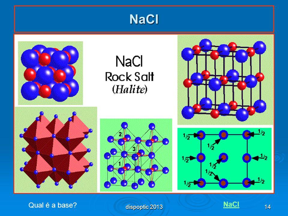 14 NaCl Qual é a base? NaCl dispoptic 2013