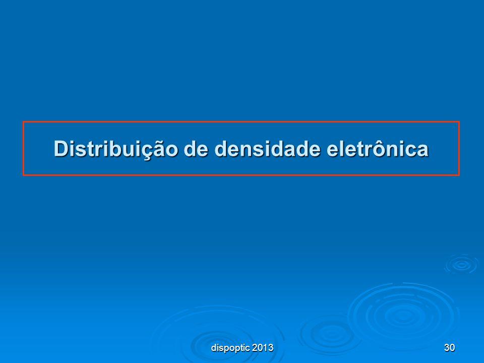 30 Distribuição de densidade eletrônica dispoptic 2013