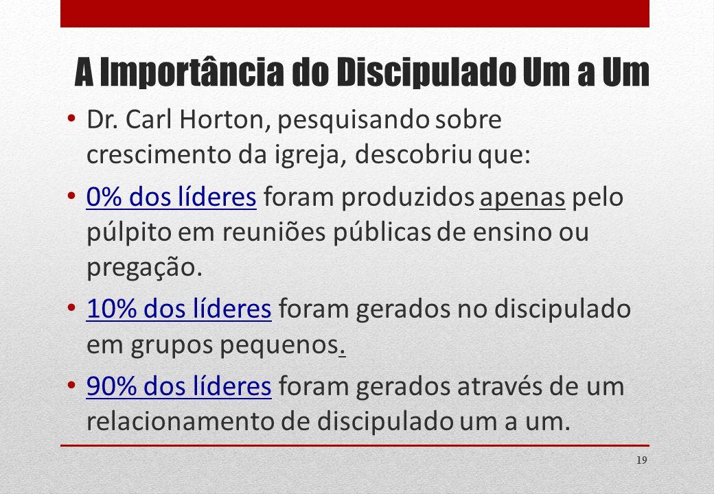 19 A Importância do Discipulado Um a Um Dr.