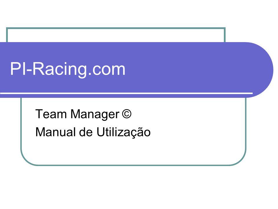 PI-Racing.com Introdução O Team Manager é uma aplicação de controle de corridas de resistência.