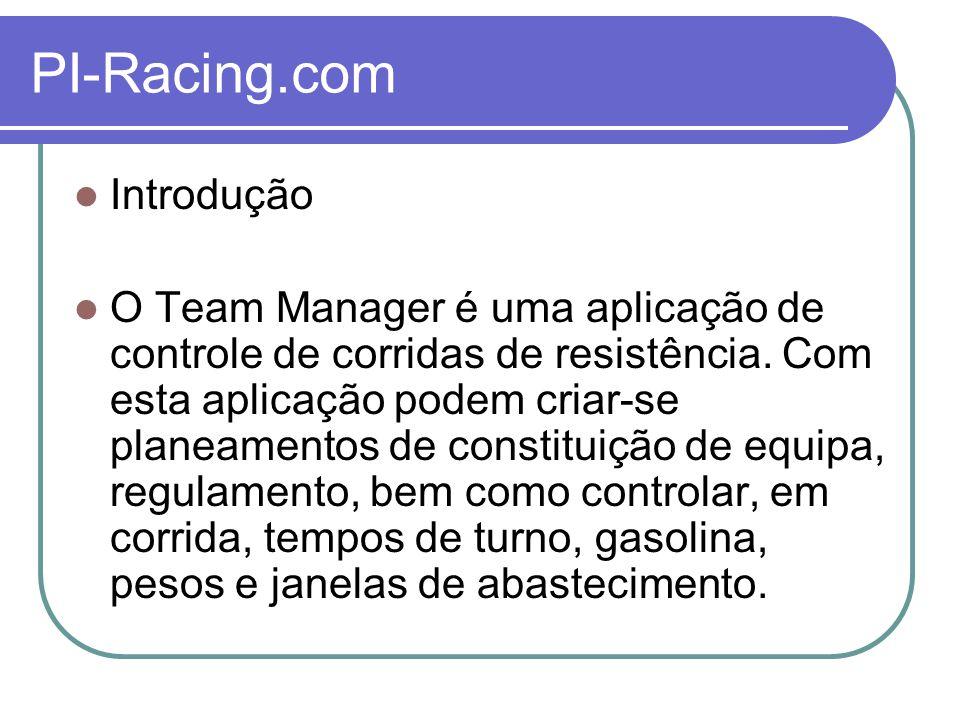 PI-Racing.com Registo da aplicação Nesta janela encontra toda a informação necessária para proceder ao pedido de registo da aplicação, bem como a sua activação.