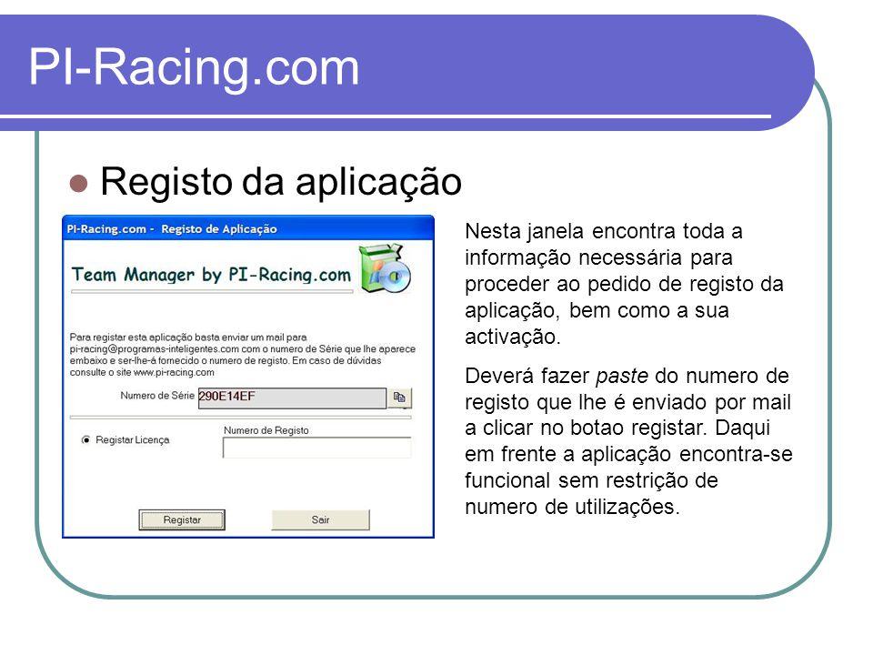 PI-Racing.com Corrida Nesta secção encontra-se a informação do próximo piloto em pista.