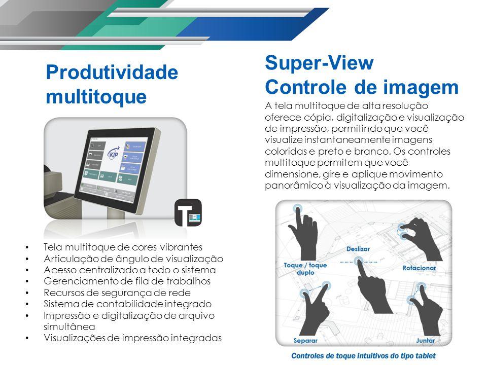 A tela multitoque de alta resolução oferece cópia, digitalização e visualização de impressão, permitindo que você visualize instantaneamente imagens coloridas e preto e branco.
