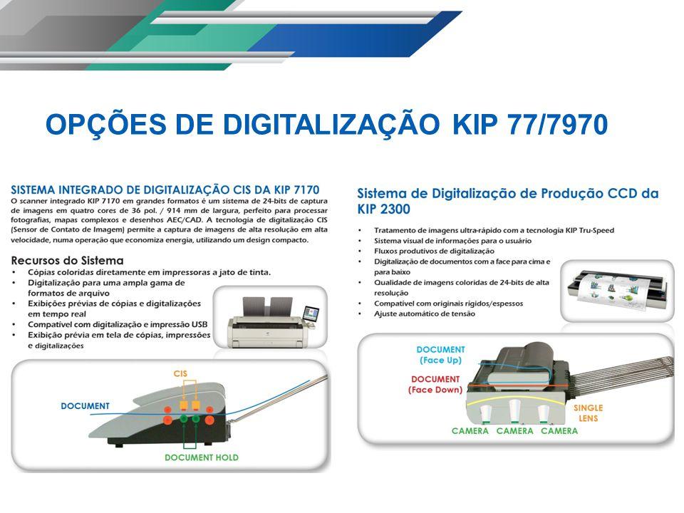 Alta resolução de 600 x 2.400 DPI Os sistemas KIP oferecem impressão nítida de 600 x 2.400 dpi para assegurar detalhes mais precisos e gradientes suaves.