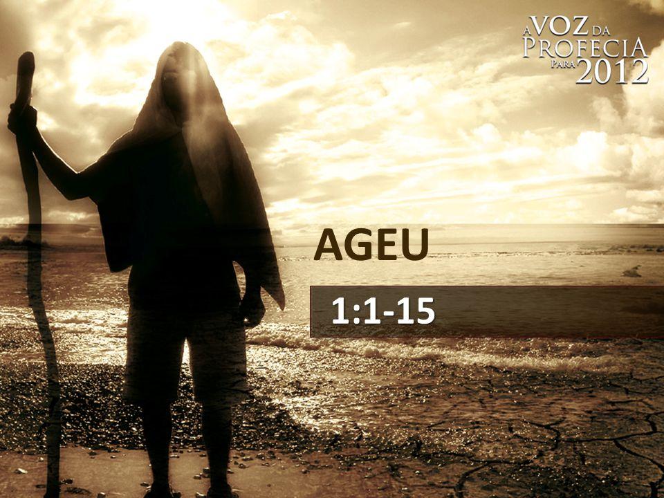 AGEU 1:1-15 14 de modo que eles começaram a trabalhar no templo do Senhor dos Exércitos, o seu Deus,