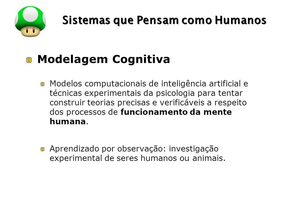 LOGO Sistemas que Pensam como Humanos Modelagem Cognitiva Modelos computacionais de inteligência artificial e técnicas experimentais da psicologia par