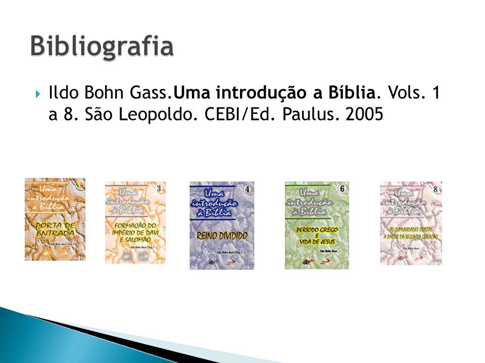Ildo Bohn Gass.Uma introdução a Bíblia. Vols. 1 a 8. São Leopoldo. CEBI/Ed. Paulus. 2005