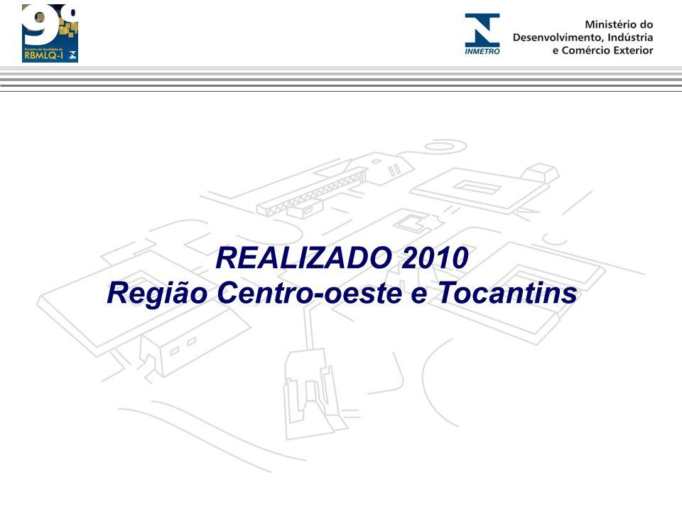 REALIZADO 2010 Região Centro-oeste e Tocantins