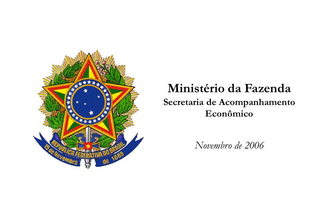 Ministério da Fazenda - Secretaria de Acompanhamento Econômico 1 Ministério da Fazenda Secretaria de Acompanhamento Econômico Novembro de 2006