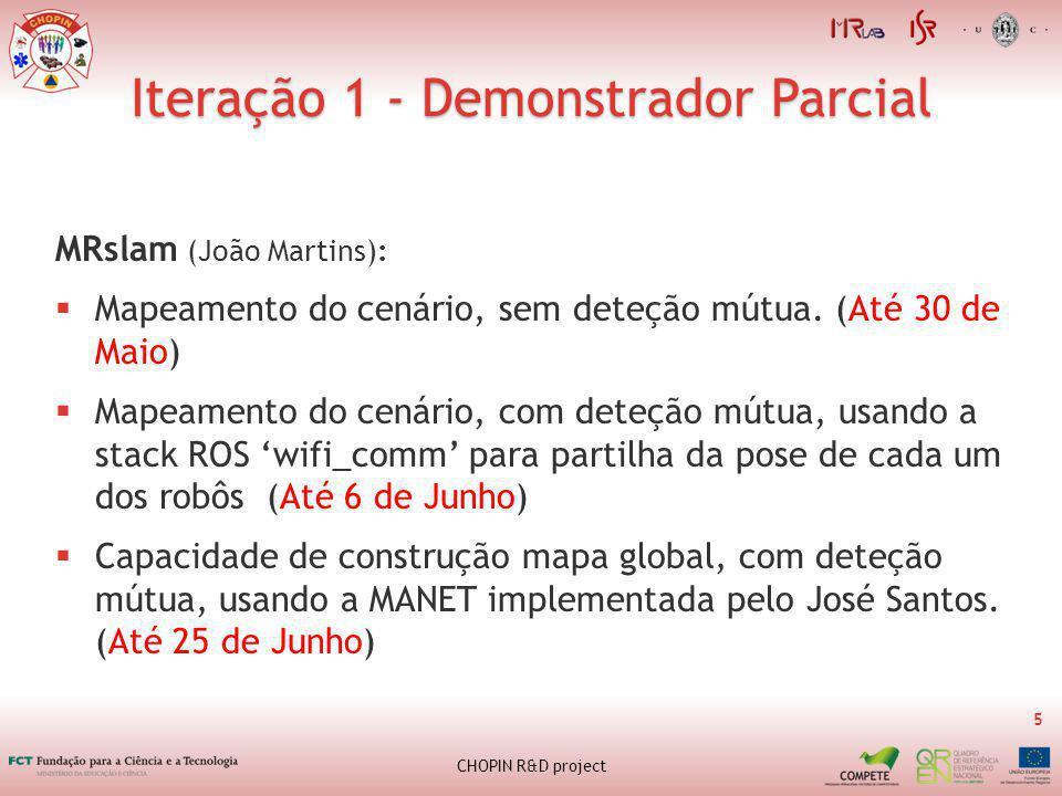 Iteração 1 - Demonstrador Parcial 5 CHOPIN R&D project MRslam (João Martins): Mapeamento do cenário, sem deteção mútua.