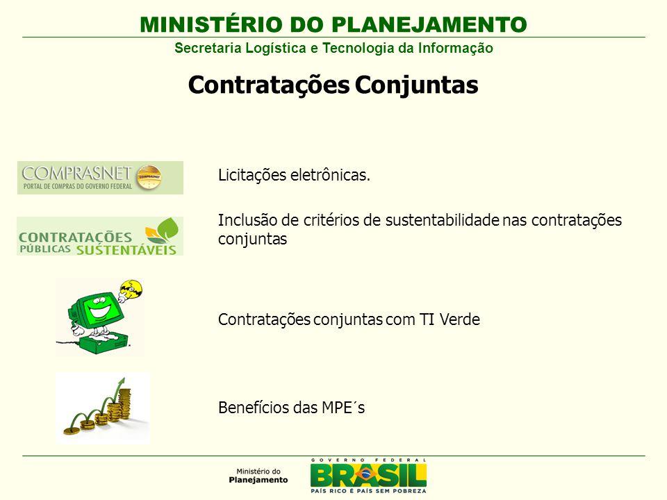 MINISTÉRIO DO PLANEJAMENTO Licitações eletrônicas.