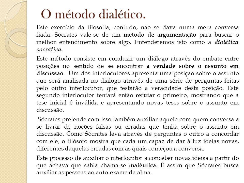 O método dialético.