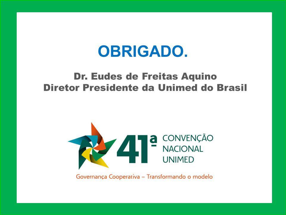 Dr. Eudes de Freitas Aquino Diretor Presidente da Unimed do Brasil OBRIGADO.