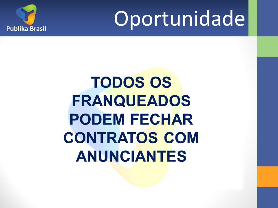 Oportunidade TODOS OS FRANQUEADOS PODEM FECHAR CONTRATOS COM ANUNCIANTES