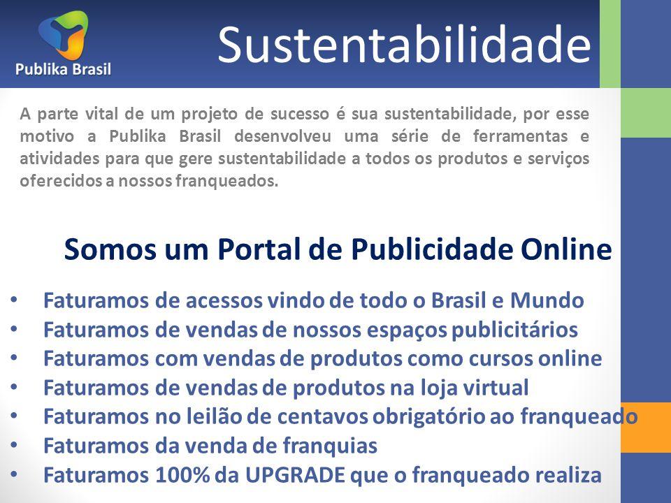 Sustentabilidade A parte vital de um projeto de sucesso é sua sustentabilidade, por esse motivo a Publika Brasil desenvolveu uma série de ferramentas