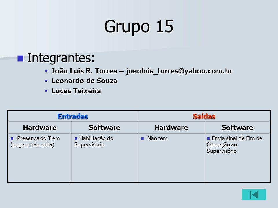 Grupo 15 Integrantes: Integrantes: João Luis R. Torres – joaoluis_torres@yahoo.com.br João Luis R. Torres – joaoluis_torres@yahoo.com.br Leonardo de S