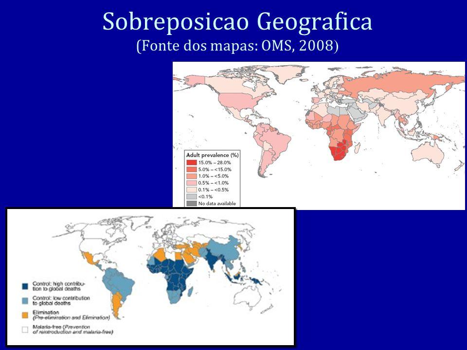 Sobreposicao Geografica (Fonte dos mapas: OMS, 2008 )