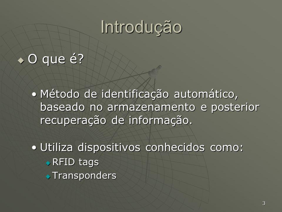 14 Arquitetura (cont.) Leitoras Leitoras Composta por:Composta por: Circuito integrado.