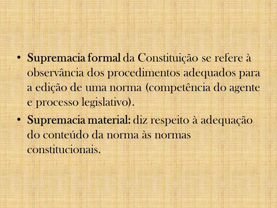 2. SUPREMACIA DA CONSTITUIÇÃO Normas constitucionais Normas infraconstitucionais