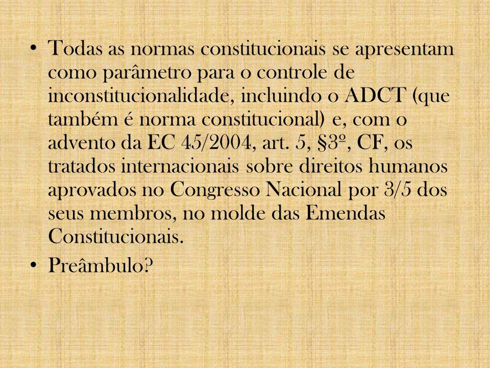 3. CONTROLE DE CONSTITUCIONALIDADE Fiscalização da compatibilidade das normas infraconstitucionais com as normas constitucionais. Pressupostos: Rigide
