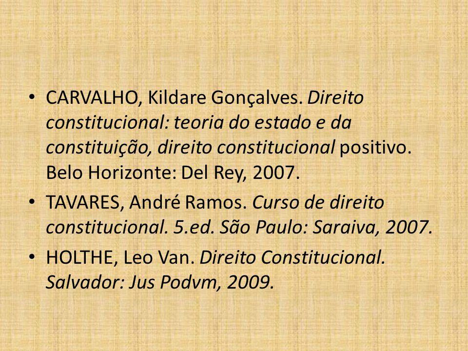 BIBLIOGRAFIA: BONAVIDES, Paulo.Curso de direito constitucional.