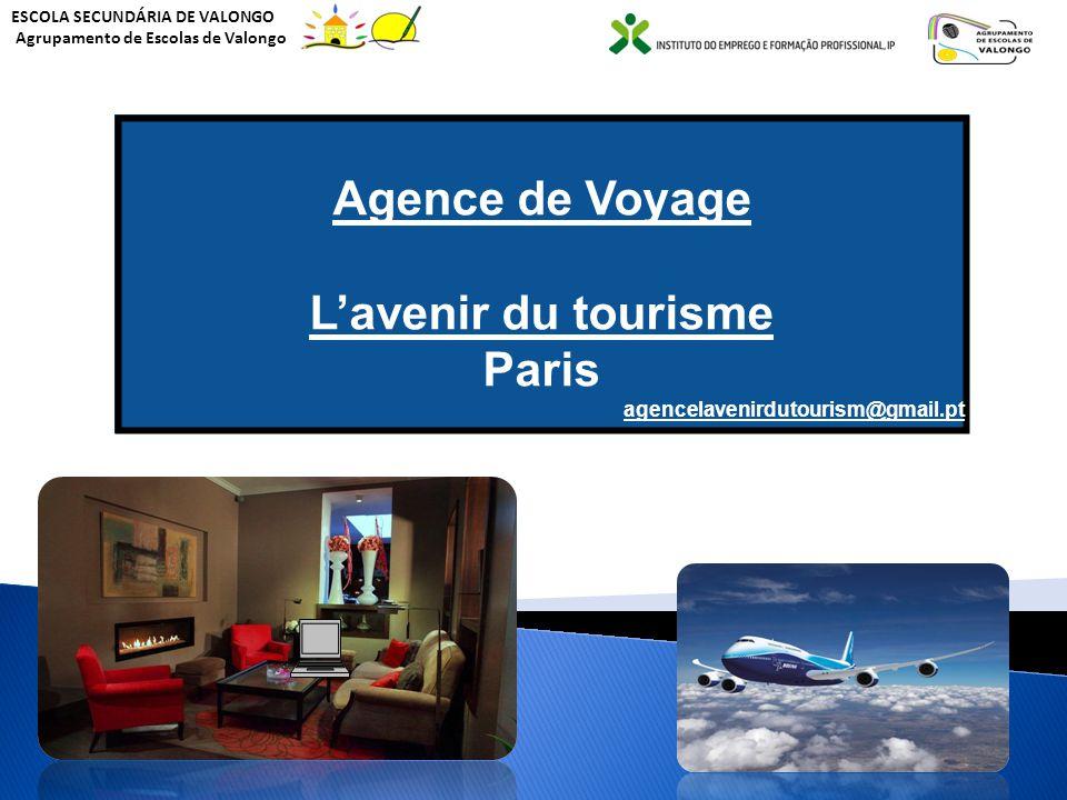 ESCOLA SECUNDÁRIA DE VALONGO Agrupamento de Escolas de Valongo A agência de viagens Agence de Voyage Lavenir du tourisme Agence de Voyage Lavenir du t