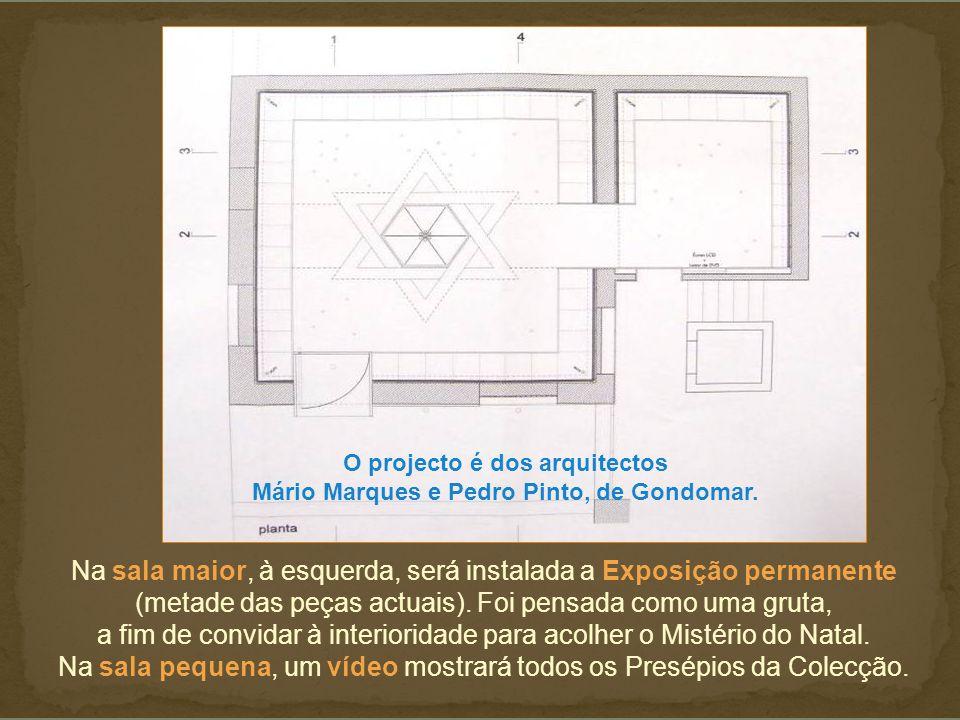 Na sala maior, à esquerda, será instalada a Exposição permanente (metade das peças actuais).