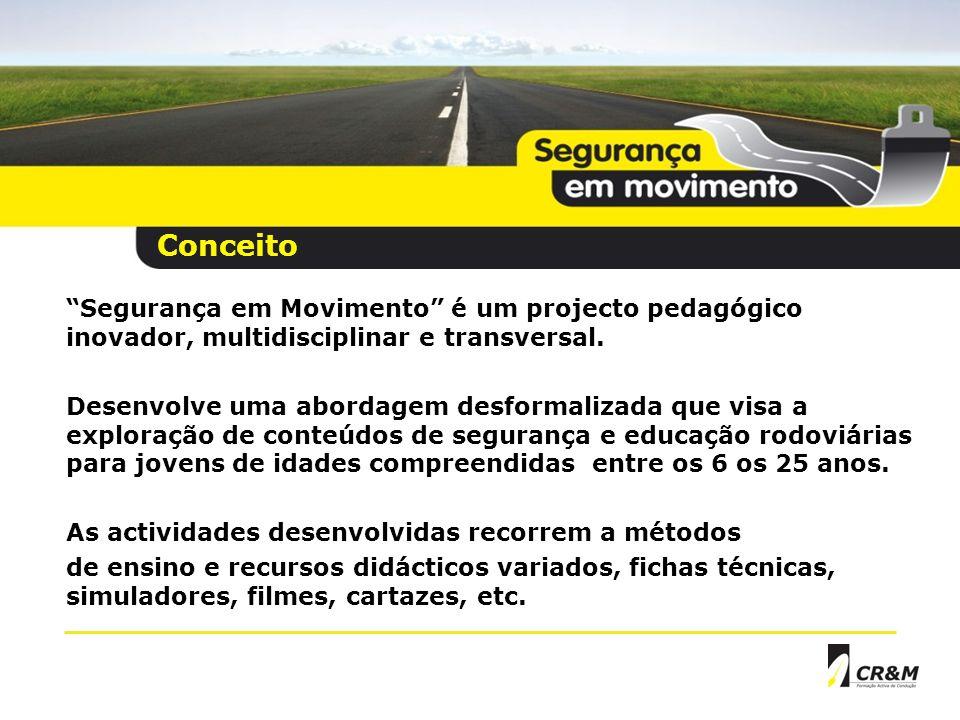Segurança em Movimento é um projecto pedagógico inovador, multidisciplinar e transversal.