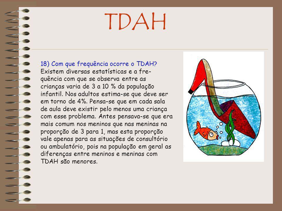 18) Com que frequência ocorre o TDAH.