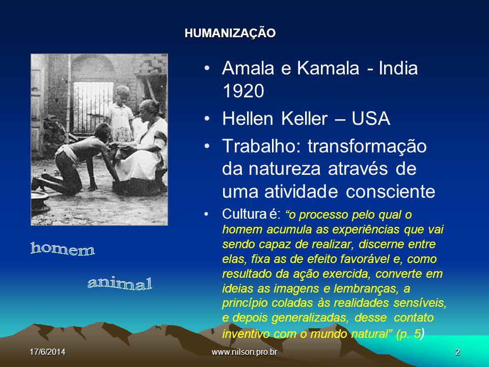 Símbolo Linguagem Costumes Religião Arte O HOMEM EM SUAS ORIGENS 17/6/20143www.nilson.pro.br