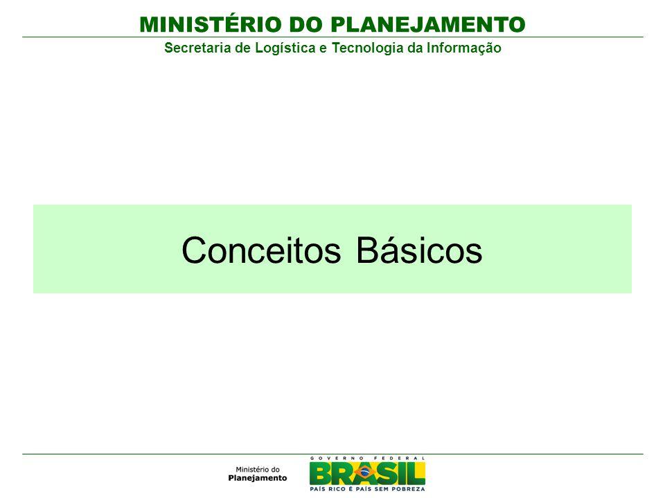 MINISTÉRIO DO PLANEJAMENTO Secretaria de Logística e Tecnologia da Informação Conceitos Básicos
