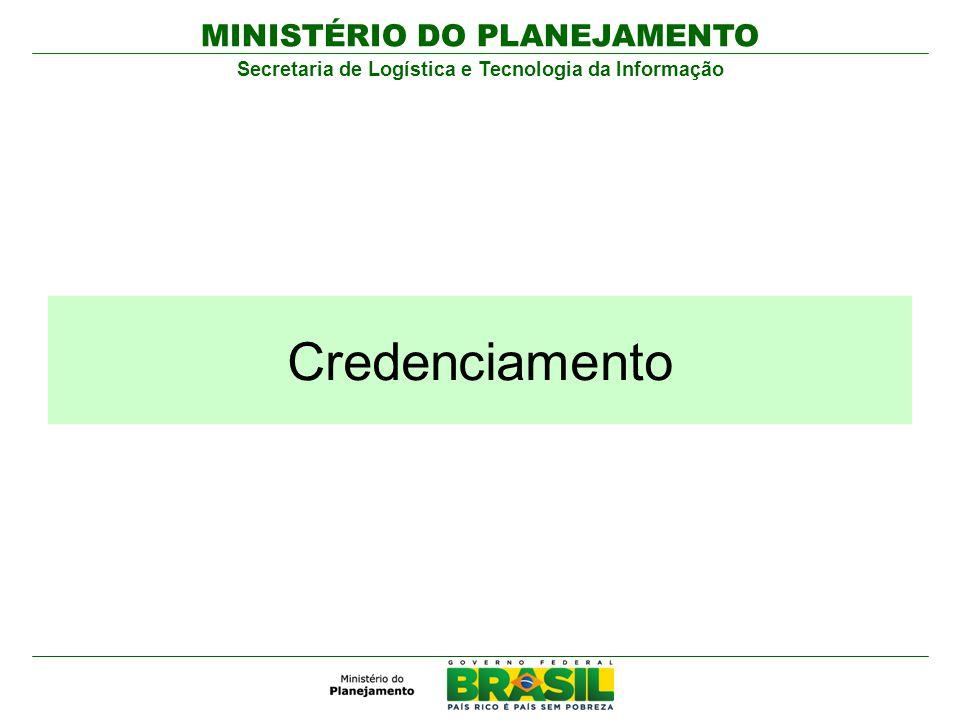 MINISTÉRIO DO PLANEJAMENTO Secretaria de Logística e Tecnologia da Informação Credenciamento
