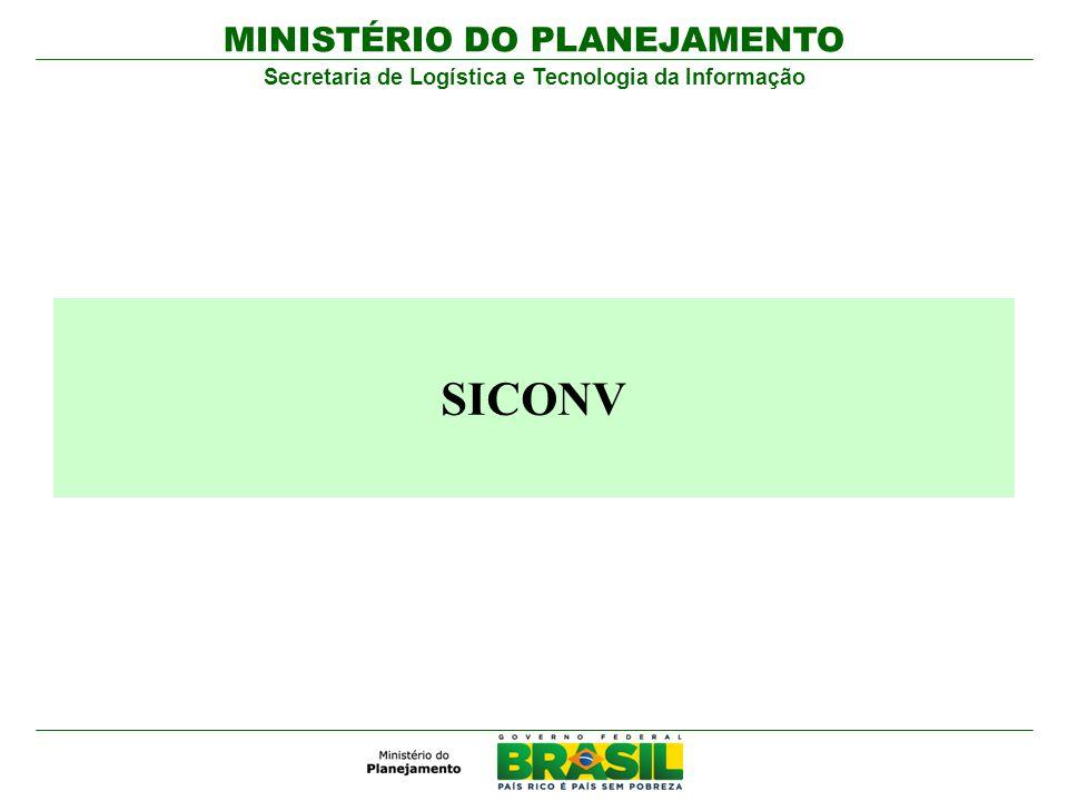 MINISTÉRIO DO PLANEJAMENTO Secretaria de Logística e Tecnologia da Informação SICONV