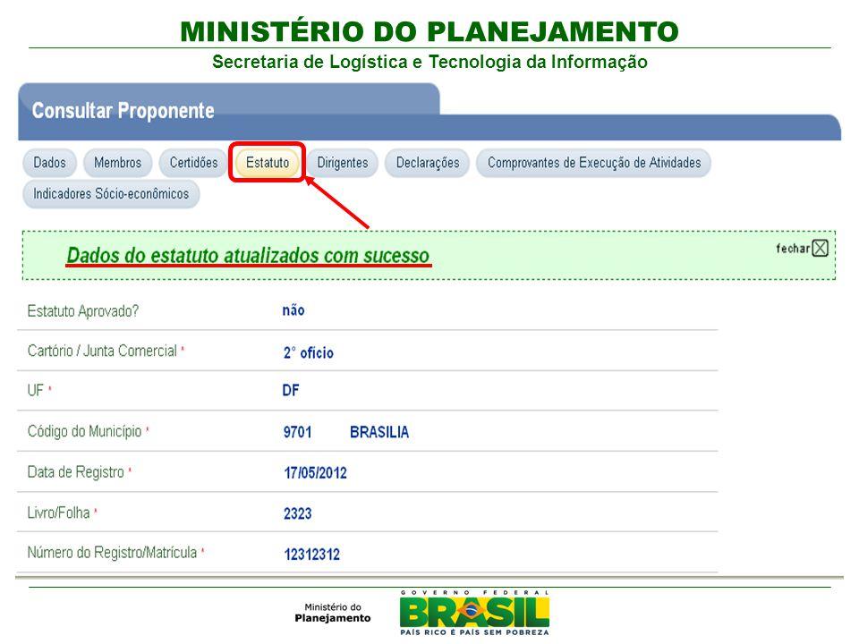 MINISTÉRIO DO PLANEJAMENTO Secretaria de Logística e Tecnologia da Informação
