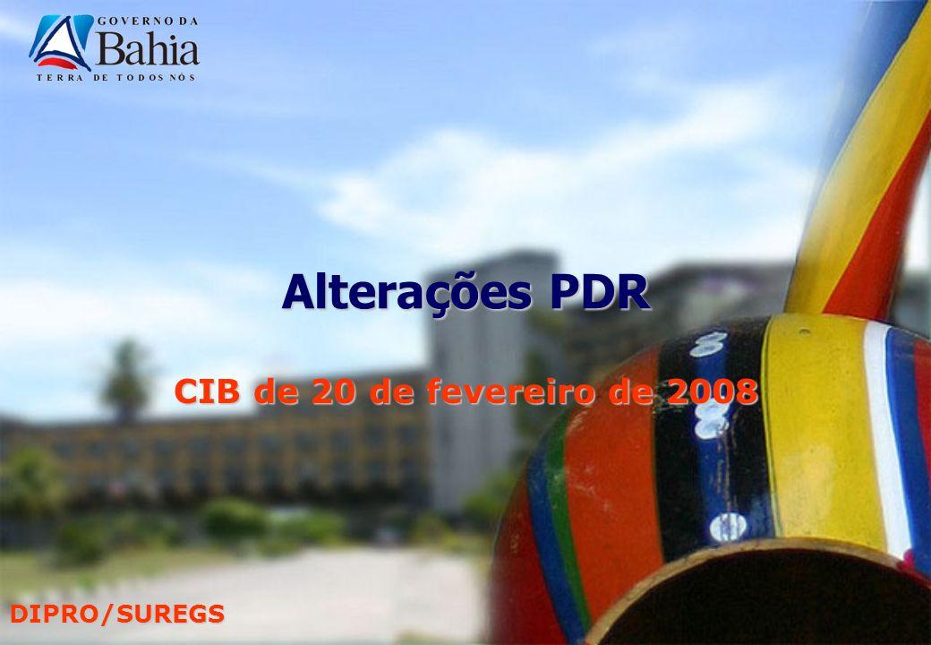 DIPRO/SUREGS Alterações PDR CIB de 20 de fevereiro de 2008