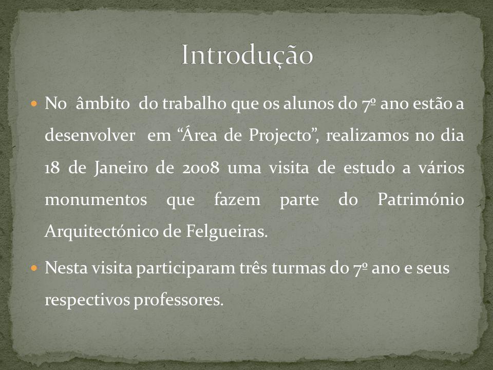No âmbito do trabalho que os alunos do 7º ano estão a desenvolver em Área de Projecto, realizamos no dia 18 de Janeiro de 2008 uma visita de estudo a