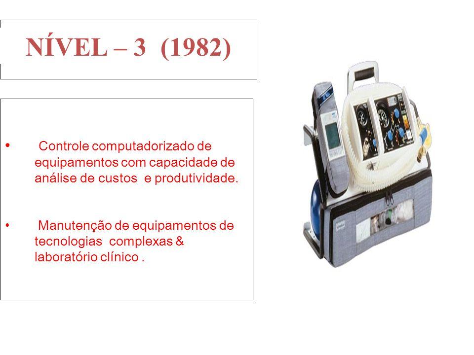 Controle computadorizado de equipamentos com capacidade de análise de custos e produtividade. Manutenção de equipamentos de tecnologias complexas & la