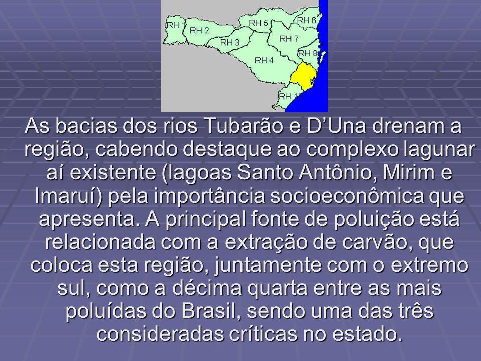 Compõem a rede hidrográfica do Litoral-Centro as bacias dos rios Tijucas, Biguaçu, Cubatão do Sul e da Madre, todas de pequena extensão, com foz no oc