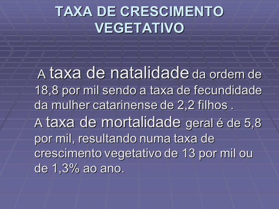 Os menores municípios em população relativa Capão Alto com 2,3 hab/km² Bom Jardim da Serra com 4 hab/km² Calmon com 5 hab/km² Anitápolis com 6 hab/km²