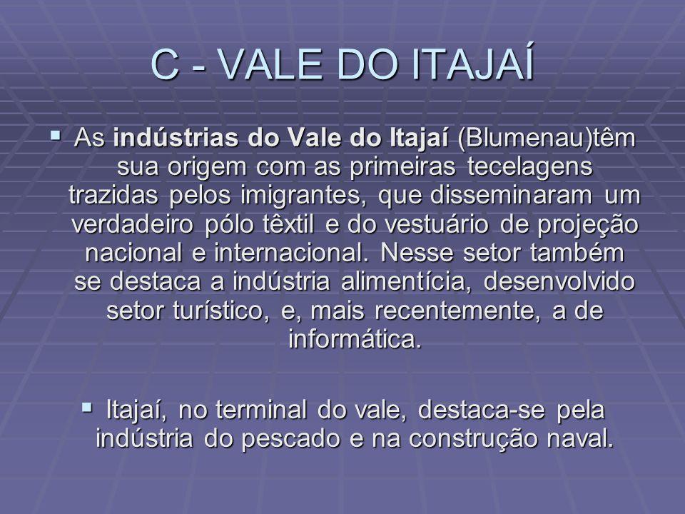 B – NORTE CATARINENSE A região de Porto União, Mafra, Rio Negrinho e São Bento do Sul, identifica-se por ser um importante setor do pólo florestal que compõe- se de empresas de madeira, moveleiras e de papel e papelão.